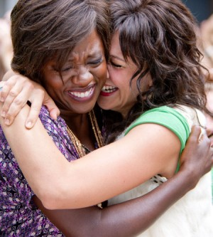 Viola Davis, left, is a teacher and Maggie Gyllenhaal is a parent in a fictionalized movie about school restructuring.