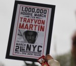 "Marchers gathered in New York City to protest the investigation of Trayvon Martin's death. Marchers in the ""Million Hoodie March"" wore sweatshirts similar to one Martin was wearing at the time of his death."