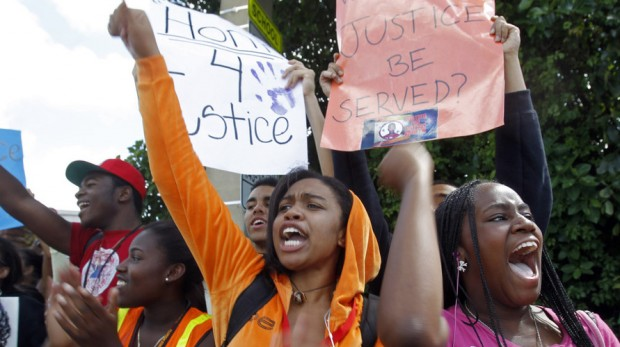 Students at 34 miami schools walk out of class for trayvon martin