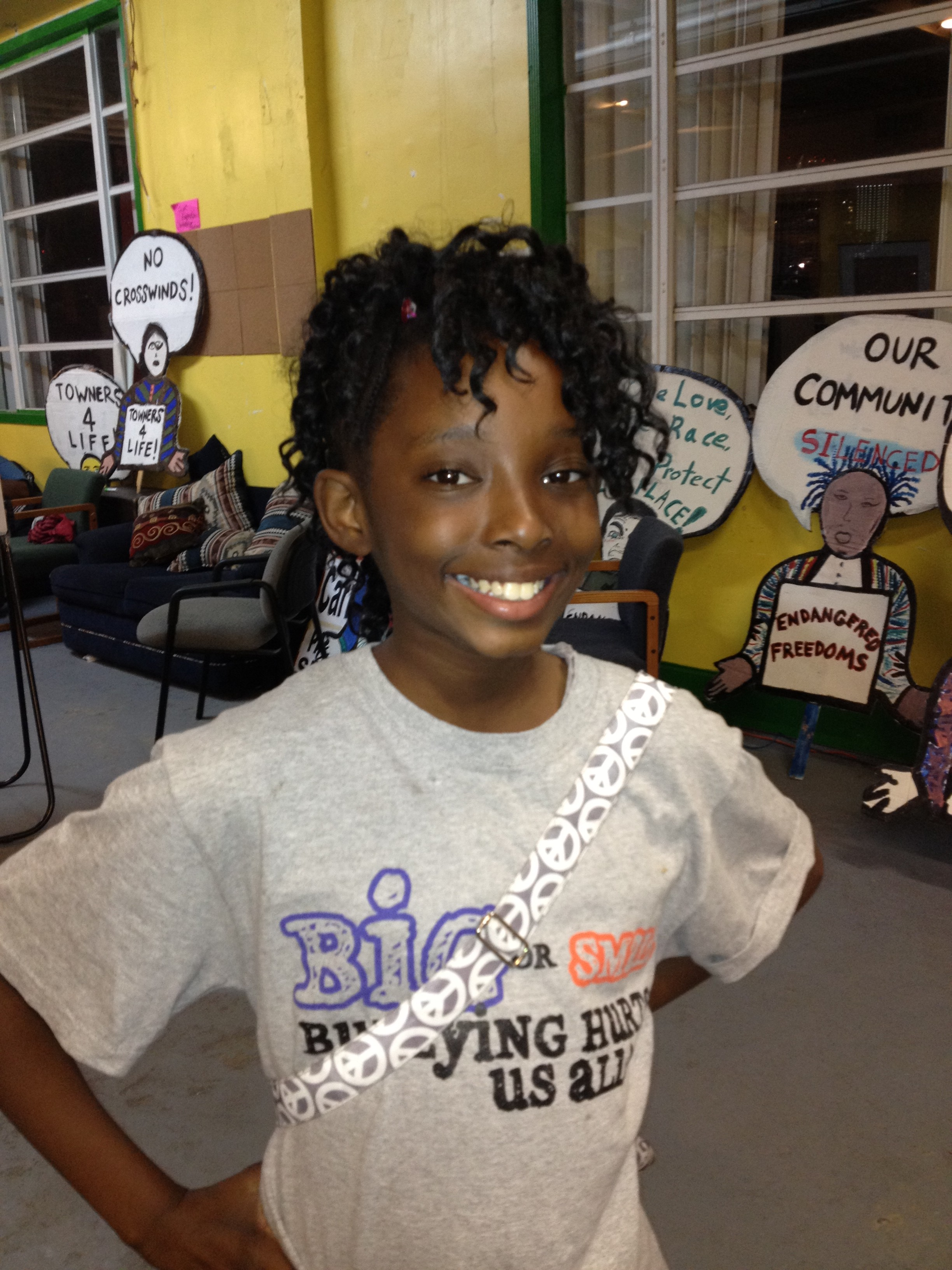 Keisha Campbell, a sixth grader at Norland Middle School, got in-school-suspension for 10 days.