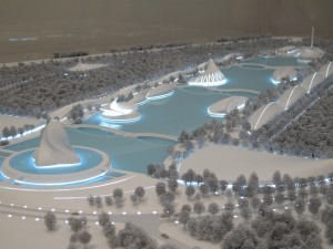 A model of the future Florida Polytechnic campus.