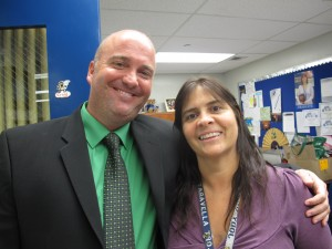 JP Taravela High Principal Shawn Cerra with the school's guidance director, Jody Gaver.