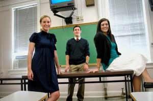 Teach for America teachers Samantha Sanacore, Eric Sweeney and Denali Lander.
