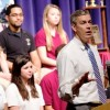 U.S. Education Secretary Arne Duncan speaks at a town hall event at Pembroke Pines Charter High School in 2012.