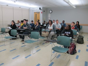 Students in a remedial class at Miami-Dade College.