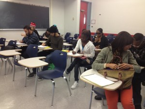 Students in a remedial math class at Miami-Dade College.