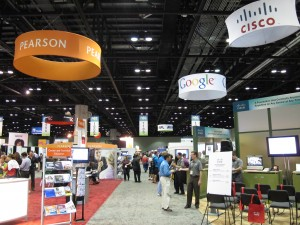The exhibit hall at FETC, an annual education technology conference in Orlando.