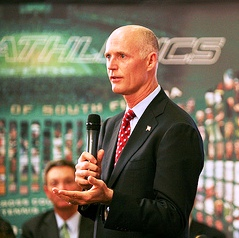 Gov. Rick Scott has asked that Florida give up its duties managing PARCC's money.