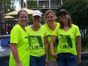 Meridith Mears, Debbie Higginbotham, Laura Zorc and Stacie Clark, who founded Florida Parents Against Common Core.