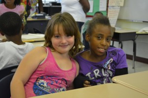 Campers in the summer program at Sallye B. Mathis Elementary School learn Common Core lessons.