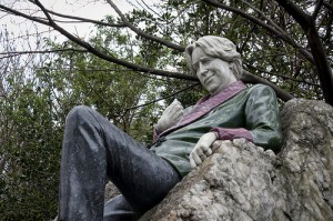 The Oscar Wilde statue in Dublin. Wilde was almost as quotable as some of the education experts in this month's Whiteboard Advisors survey.