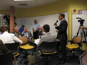 Miami-Dade superintendent Alberto Carvalho introduces himself at Gov. Rick Scott's education summit.