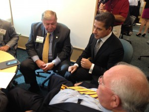 Florida School Boards Association director Wayne Blanton, Miami-Dade Superintendet Alberto Carvalho, and state Sen. Bill Montford debate why they are debating Common Core State Standards.