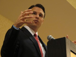 House Speaker Will Weatherford, a Republican, takes questions from the Suncoast Tiger Bay civic club.