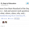 The Florida Department of Education is tweeting out a Common Core State Standard each day.