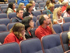 The audience at Tuesday's Common Core hearing in Tampa.