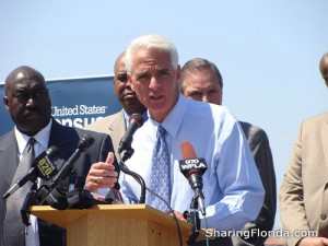 Charlie Crist is seeking the governor's office as a Democrat after once holding the post as a Republican. He's been leaning on education issues early to mark differences with Republican Gov. Rick Scott.