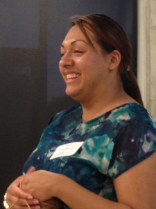Cece Estrada is a social worker at the school.