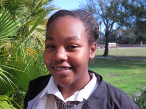 Ferrell Preparatory Academy eighth grader Destiny Jackson.
