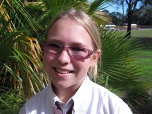 Ferrell Preparatory Academy seventh grader Elena Postlewait.