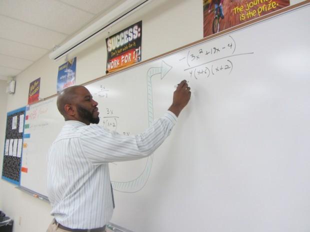 West Broward High School math teacher Horace Buddoo.