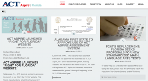 A screenshot from the ACTAspireFlorida.org website. The state is expected to choose a new exam in March.