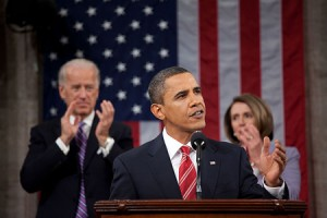 President Barack Obama delivers his 2010 State of the Union speech.