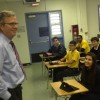 Former Gov. Jeb Bush visited a Hialeah charter school for National School Choice Week.