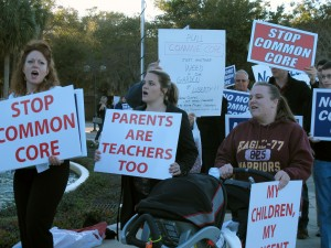 Common Core protestors at February's State Board of Education Meeting in Orlando. They aren't giving up, but lawmakers say the conversation about Common Core is moving on.