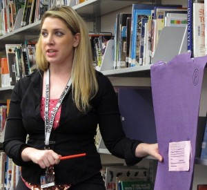 Hillsborough County middle school teacher Christina Phillips has based her lesson on Common Core standards for two years.