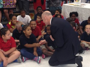 Gov. Rick Scott greets students at West Tampa's Graham Elementary School.