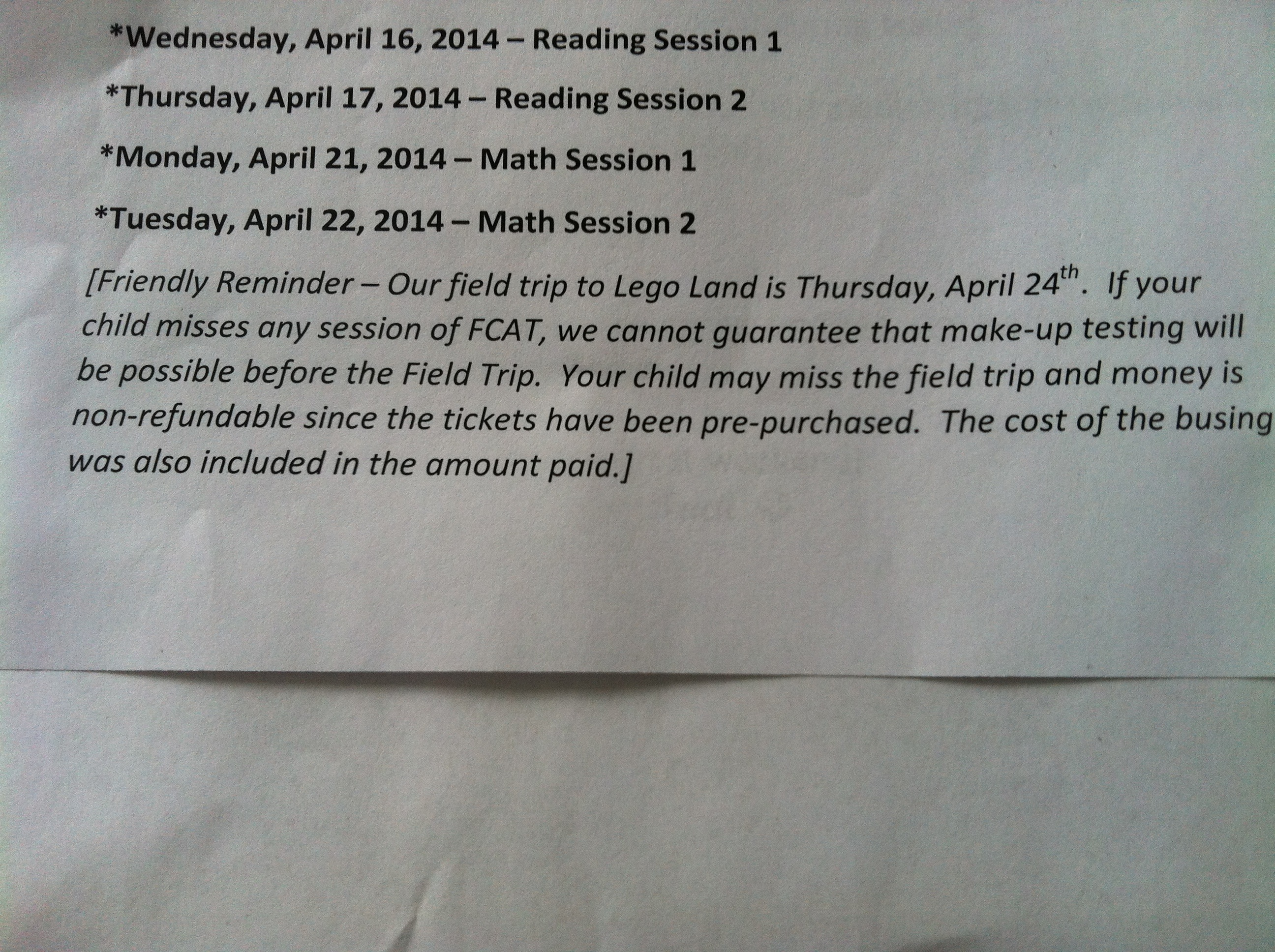 Opting Out Of Fcat Can Have Consequences