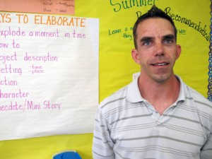 Lutz Elementary School teacher Mike Meiczinger uses Twitter to let people know what's happening in his class.