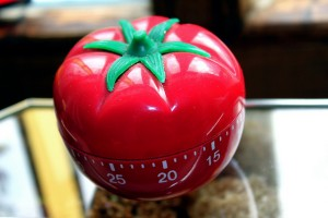 The tomato-shaped timer that gives the Pomodoro Technique its name.
