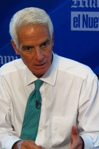 Democratic gubernatorial candidate Charlie Crist says he wants to pause penalties for teachers and schools while Florida transitions to Common Core-based standards and a new online exam.