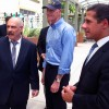 Miami-Dade superintendent Alberto Carvalho, right, Gov. Rick Scott and Southside Elementary principal Salvatore Schiavone tour the school last year.