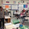 """Althea Valle teaches a class of ELL's. She says of the new federal requirement, """"I think it's going to put a lot of pressure on the schools to get these kids where we think they should be."""""""