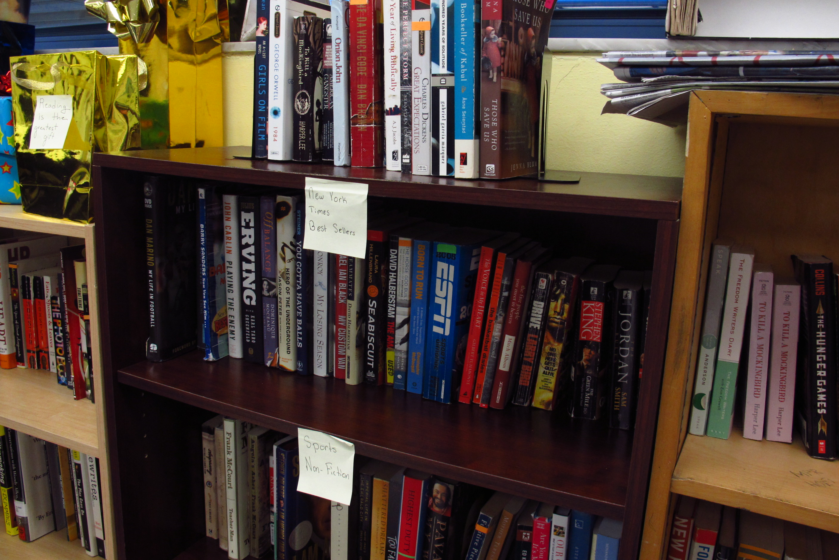 Some Of The Books In Daniel Dickeys Classroom Library