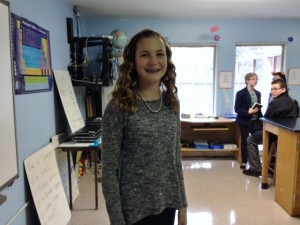 6th grader Mary Stafford chose SAS for middle school. She's been told it'll take her a year to fully adjust to a school of 300 students, instead of the 1000 she's used to.