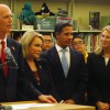 Gov. Rick Scott spoke at a Miami elementary school to urge lawmakers to increase school funding.