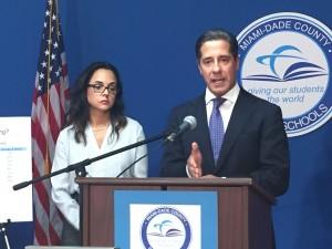 Miami-Dade Superintendent Alberto Carvalho and chief academic officer Marie Izquierdo.