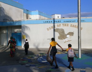 Lorah Park Elementary School in Brownsville offers classes in English and Spanish for all students.