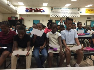 "Natural Bridge Elementary School students sing ""Amazing Grace."""