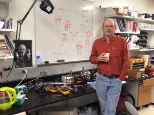 USF Physics graduate student Alan Kramer in his lab