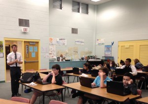 Tom Rompella leads the Introduction to Information Technology class at Keys Collegiate Academy