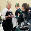Maggie Clark talks with customers at a recent event in Nampa, Idaho.