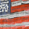 This flag was on display at White Pine Elementary in Boise on Election Day.