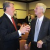 Gov. Otter and President Pro Tempore of the Idaho Senate Brent Hill spoke ahead of the 2012 session.