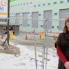 Melinda Anderson shows off what will be a new downtown headquarters for dairy manufacturer Glanbia. It's a project aided by Twin Falls' urban renewal agency.