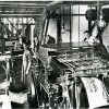 Printing press circa 1910.